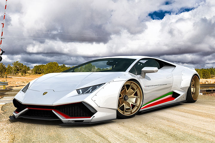 This Tuned Wide Body Lamborghini Hurac 225 N Is Insanely