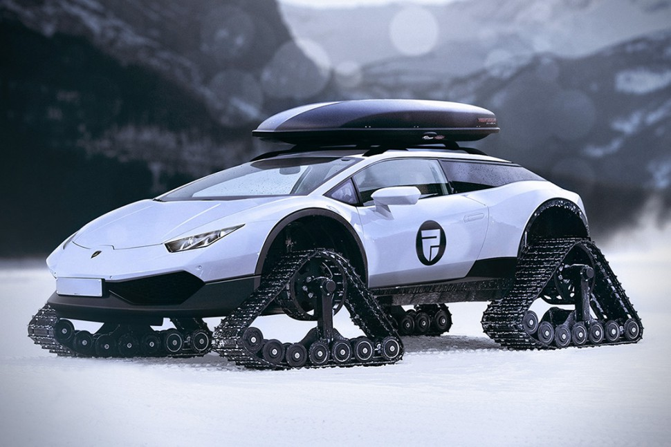 This Lamborghini Huracan Snowmobile Concept is Freakishly Insane