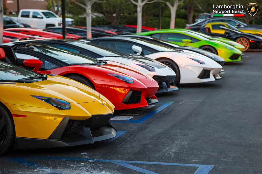 This AventadorOnly Drive Through Laguna Beach Is The Most Exclusive - Lamborghini newport beach car show 2018