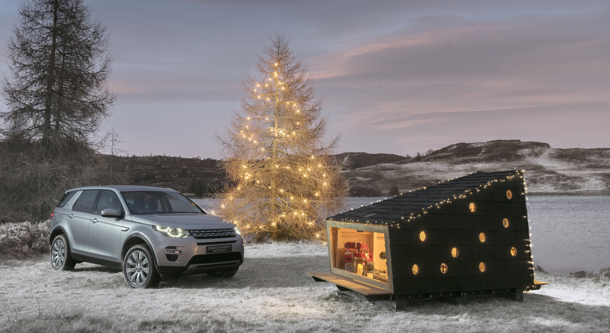 Land Rover Says Take the Christmas Cabin With You This Year!
