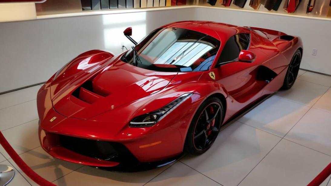 Lewis Hamilton's New All-Red Ferrari LaFerrari is Over The Top