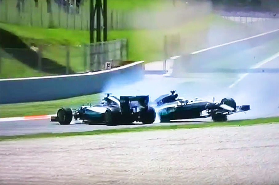 Did Lewis Hamilton Just Cause This $14-Million F1 Crash With His Mercedes Teammate?