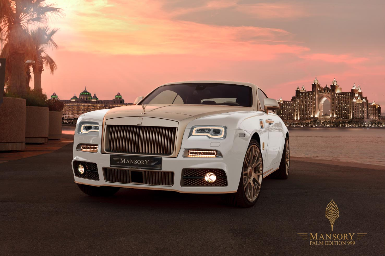 This Mansory Rolls-Royce Wraith Palm Edition 999 is Pure Gold Luxury