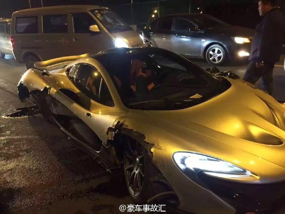 Bon ... Super Rare $2 Million McLaren P1 Totalled After Crash In China
