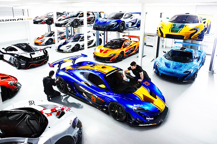 Take a Look Inside the Incredible McLaren P1 GTR Workshop