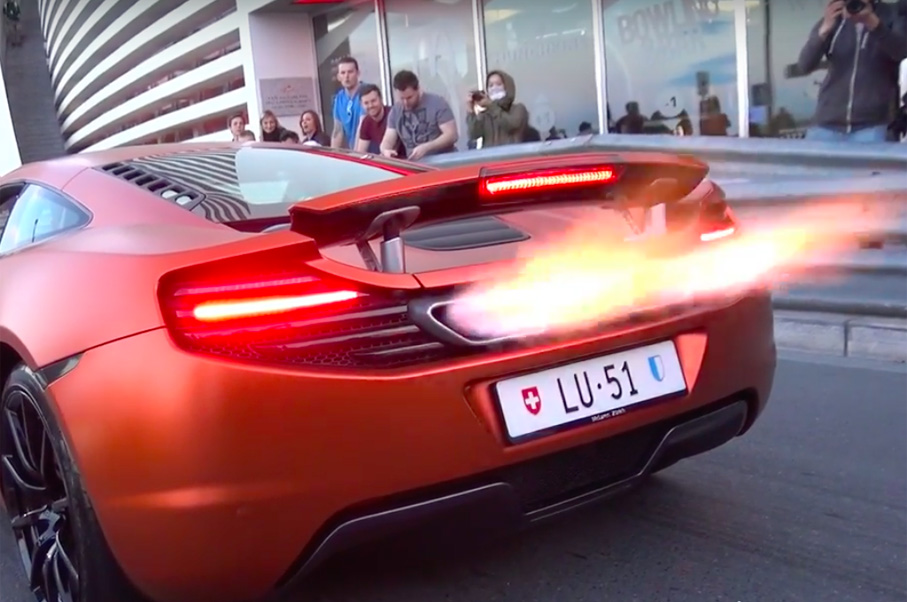 This Video of Two McLaren 12Cs Shooting Epic Flames in Monaco is Insane