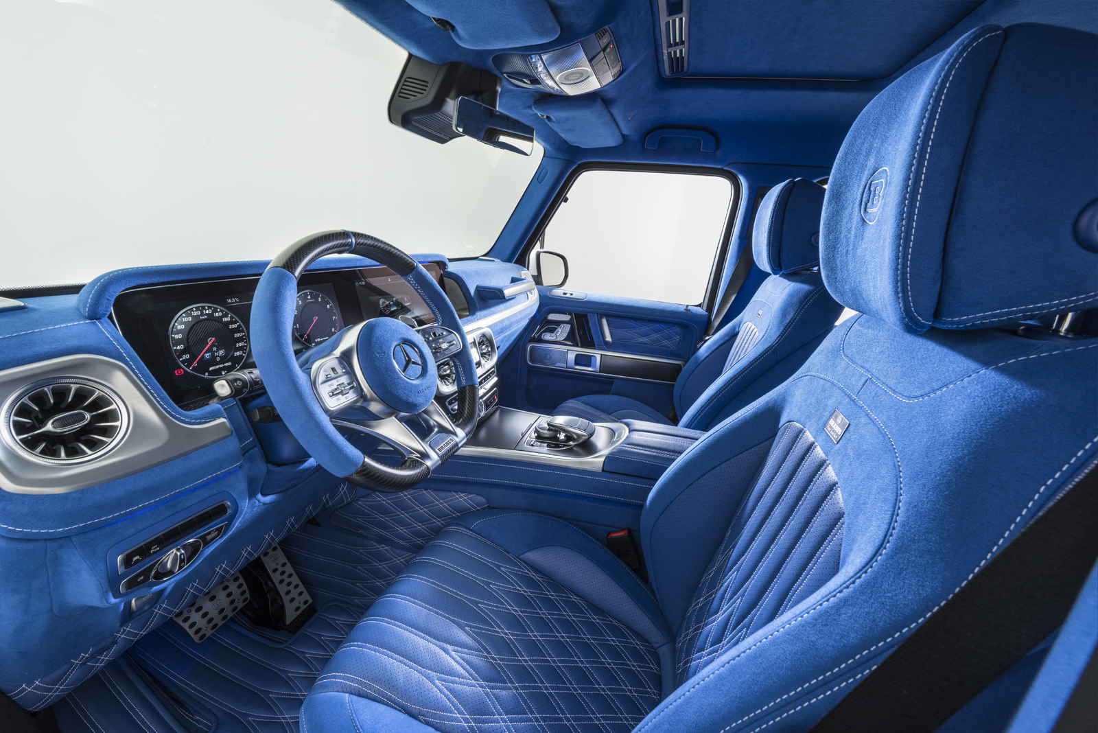 There Is Nothing More Blue Than This G63 Amg Interior