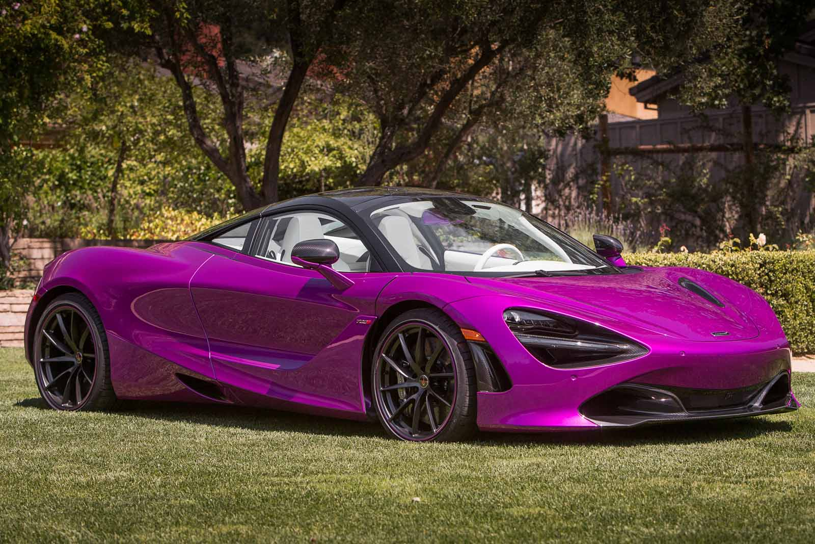 McLaren 720S MSO Shown in Eye Popping Purple at Pebble