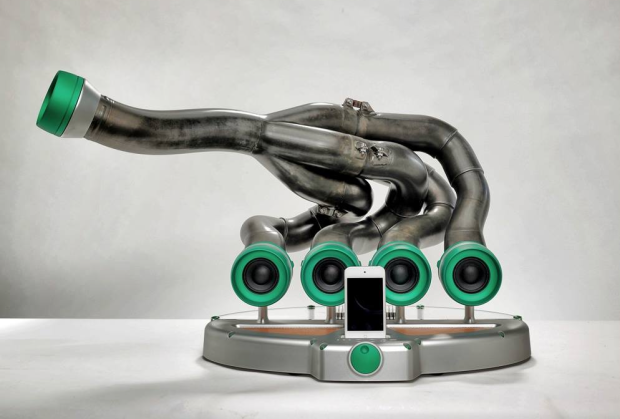 Unique Speakers someone just turned formula 1 exhausts into speakers - luxury4play