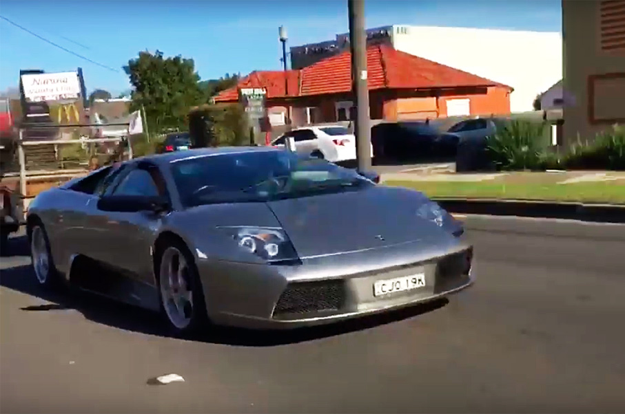 You Won't Believe What This Lamborghini Murcielago is Towing