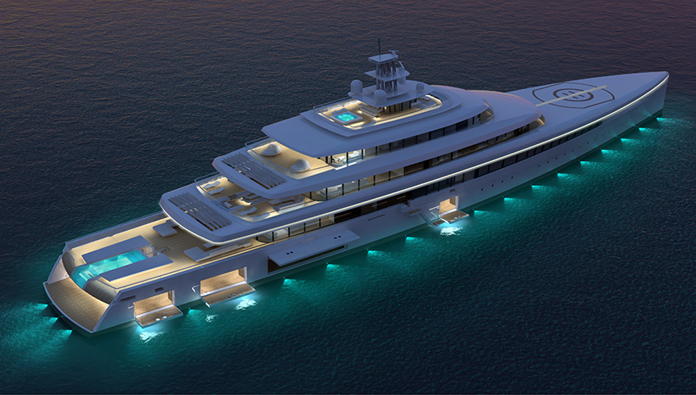 What's Inside this 334-Foot Superyacht is Stunningly Beautiful