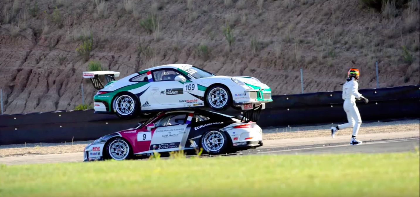 This Clash of Porsches is the Weirdest Crash You'll Ever See