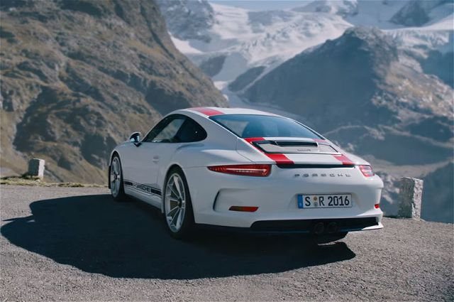 See and Hear the Porsche 911 R Tackle a Twisty Mountain Road