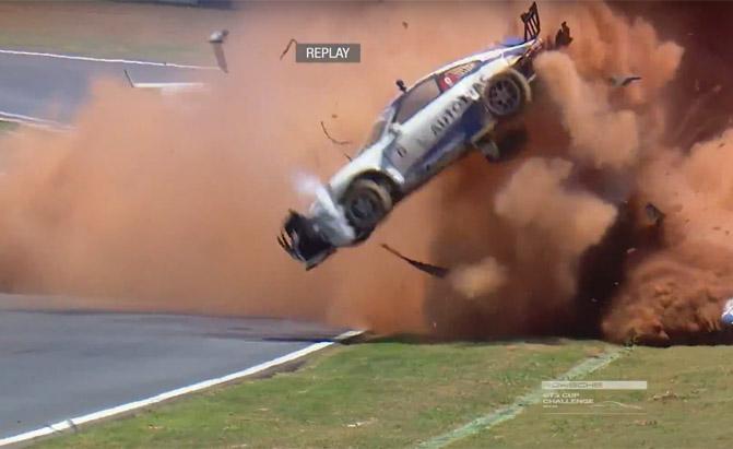 porsche-crash