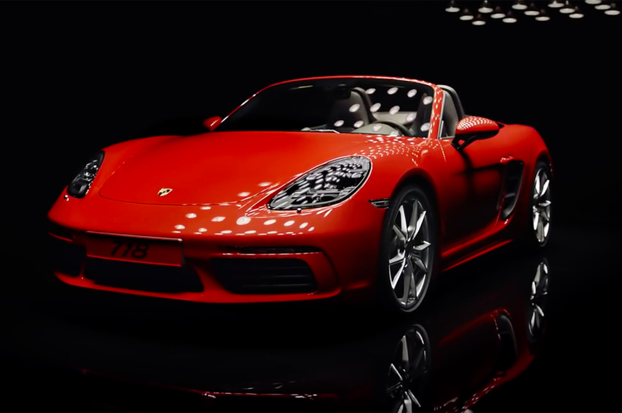 Take a Closer Look at the Porsche 718 Boxter in This Clip