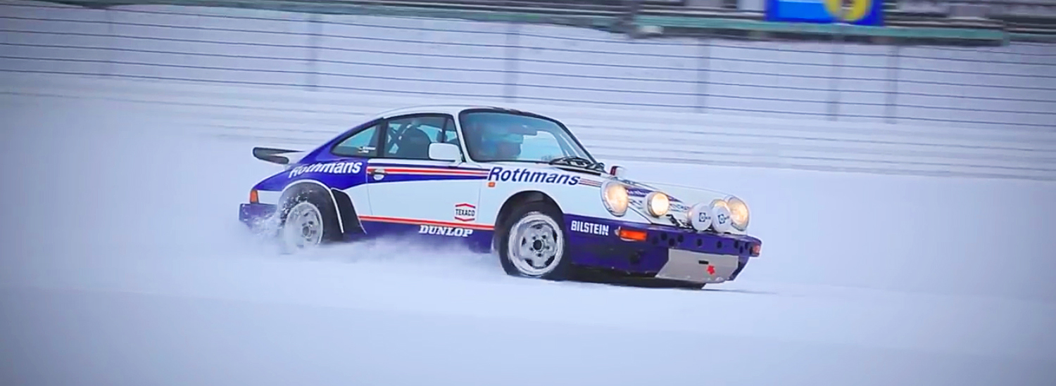 Watch this Porsche 911 Drift Its Way Around a Snowy Nurburgring's Grand Prix Circuit