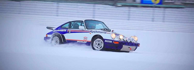 Watch this Porsche 911 Drift Its Way Around a Snowy Nurburgring's Grand Prix Circuit