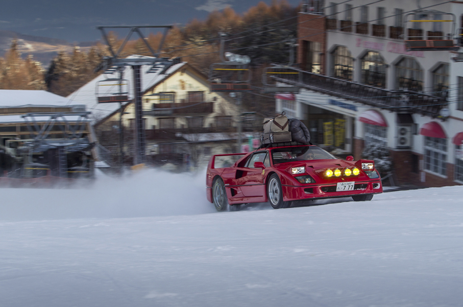 Watch This Ferrari F40 Tear Up The Slopes at a Japanese Ski Resort