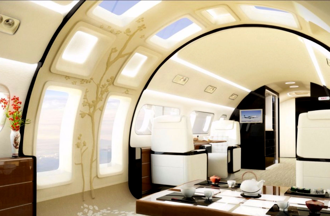 The Kyoto Airship Concept Gives Jets Ceiling-To-Floor Skylights