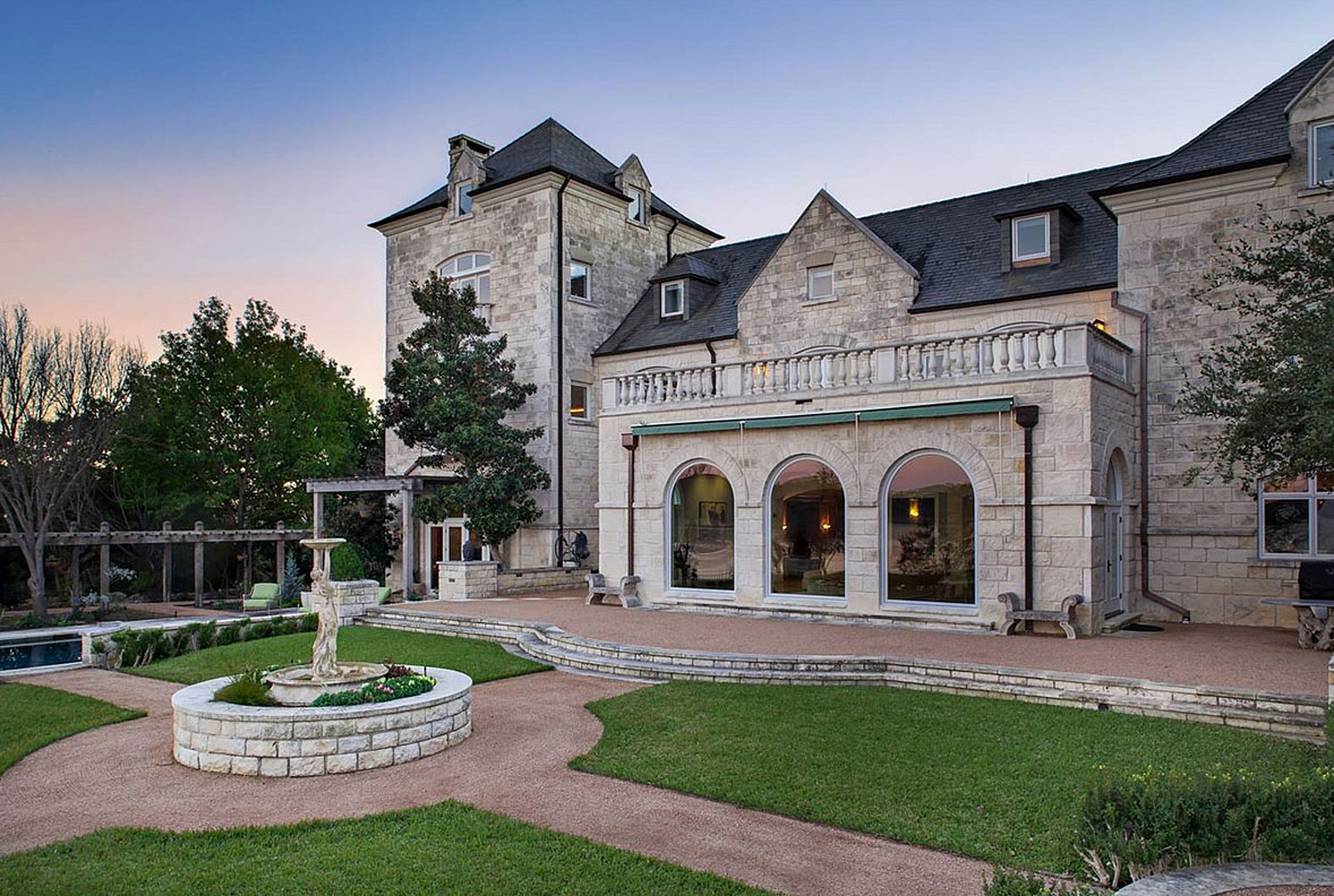 You Won't Believe What This Stunning Texas Villa Has In Its Backyard…