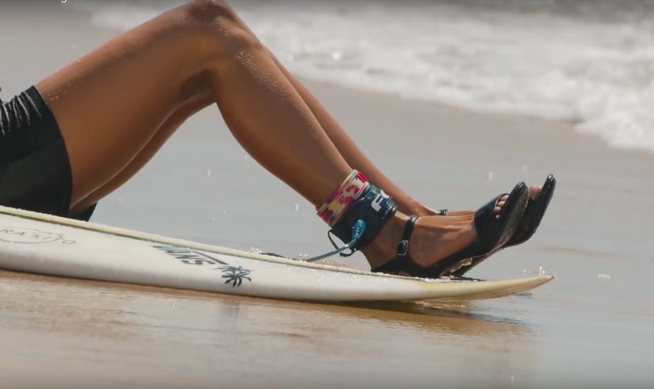 Watch this Sexy Pro Surfer Ride Waves in High Heels