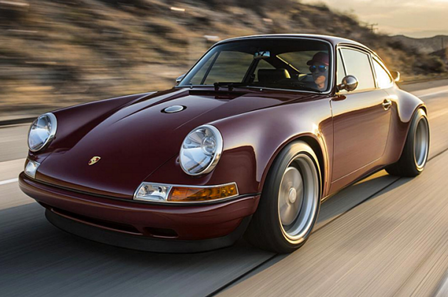 This Customized Singer Porsche 911 in Oxblood is Simply Stunning