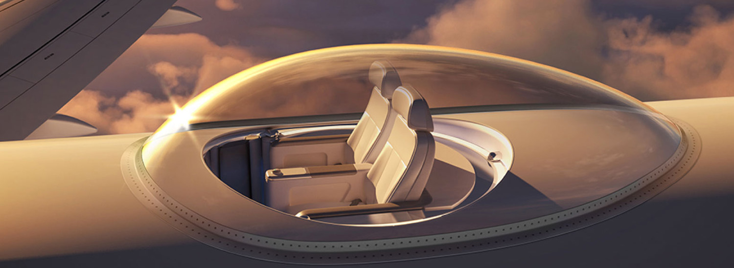 This Glass Dome For Your Jet Offers a 360-Degree View Of The Sky At 30,000 Feet