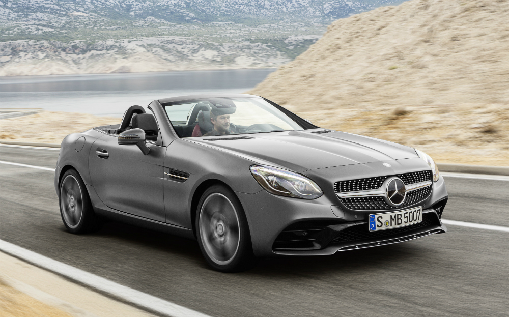 Mercedes-Benz Debuts the New SLC Roadster in Detroit