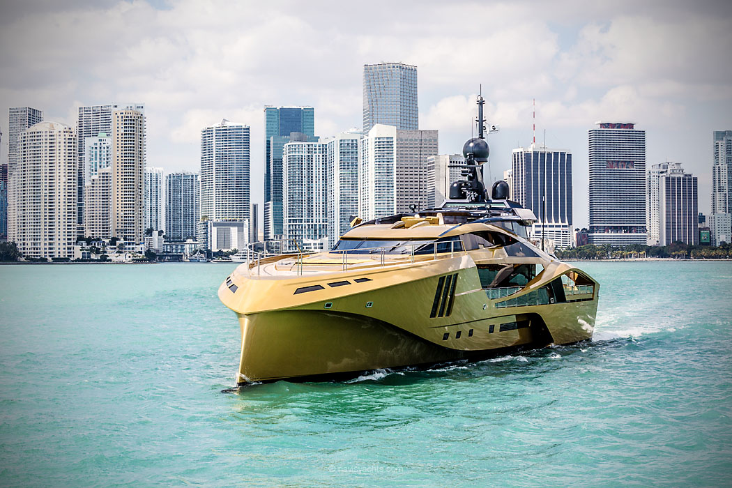 this golden yacht is the most beautiful boat you u0026 39 ll ever