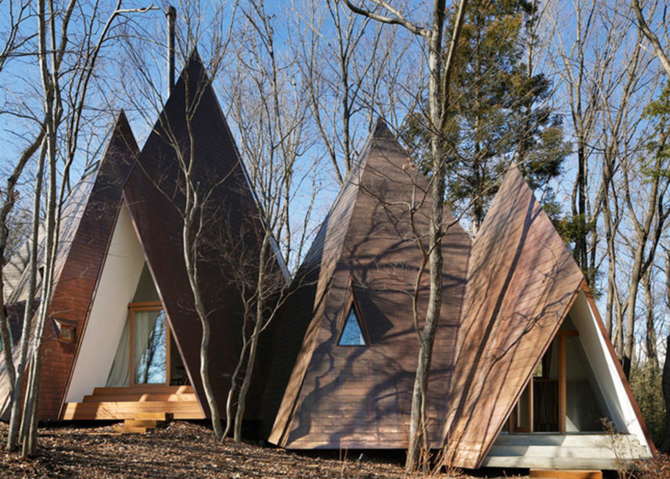 Someone Built This Insane Teepee House in A Japanese Forest