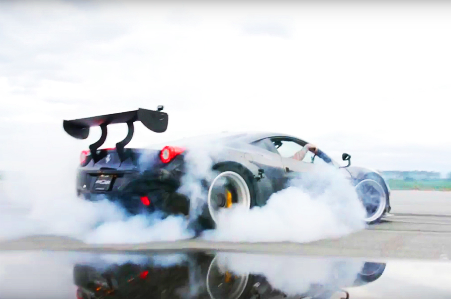 Drifting Supercars Ryan Tuerck Lays Down All The Rubber In The