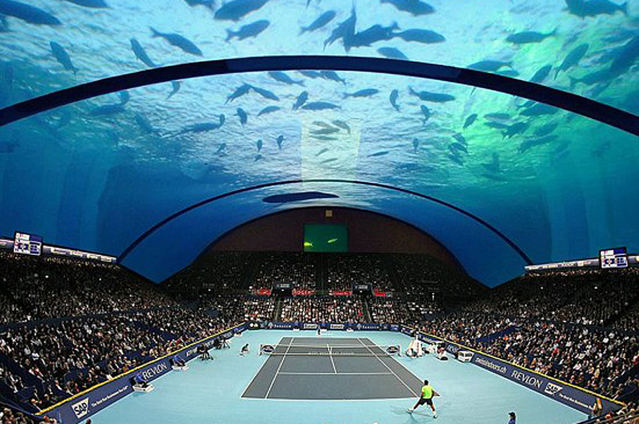 This Underwater Tennis Complex in Dubai Will Blow Your Mind