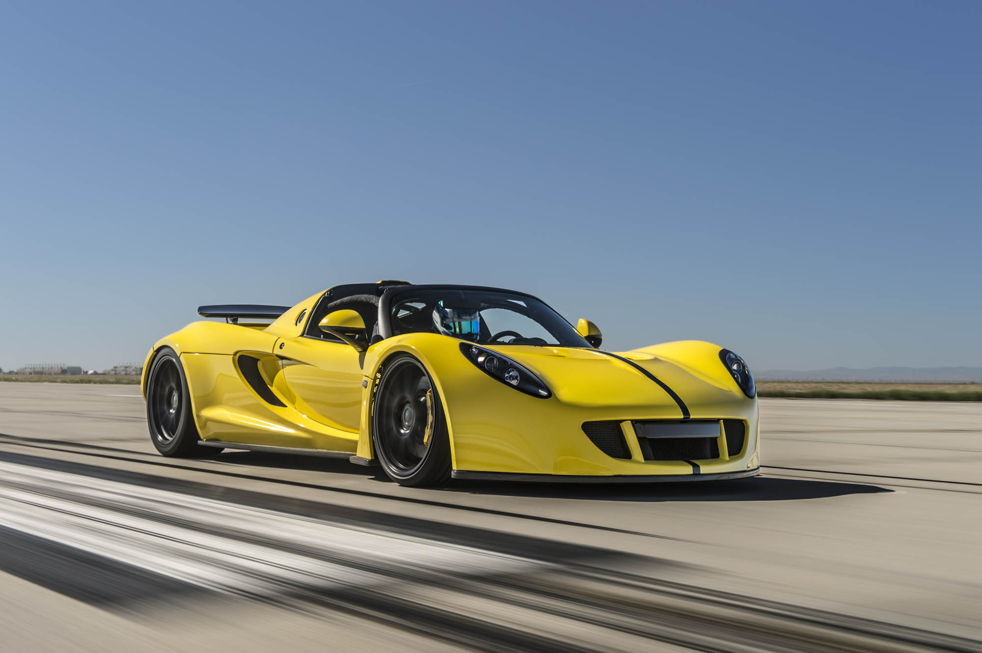 Hennessey's Venom GT Spyder Shattered Record While it Was Down 300 HP