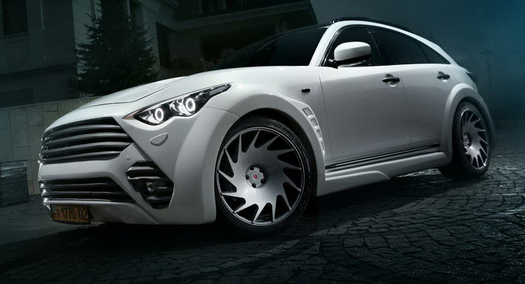 Is This Tuned Infiniti QX70's Massive Body Kit Just Too Aggressive?