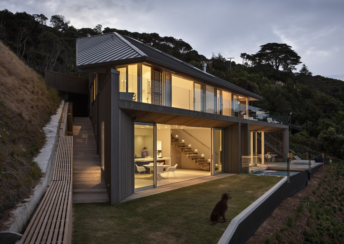 This open concept new zealand beach house is beyond for New concept homes