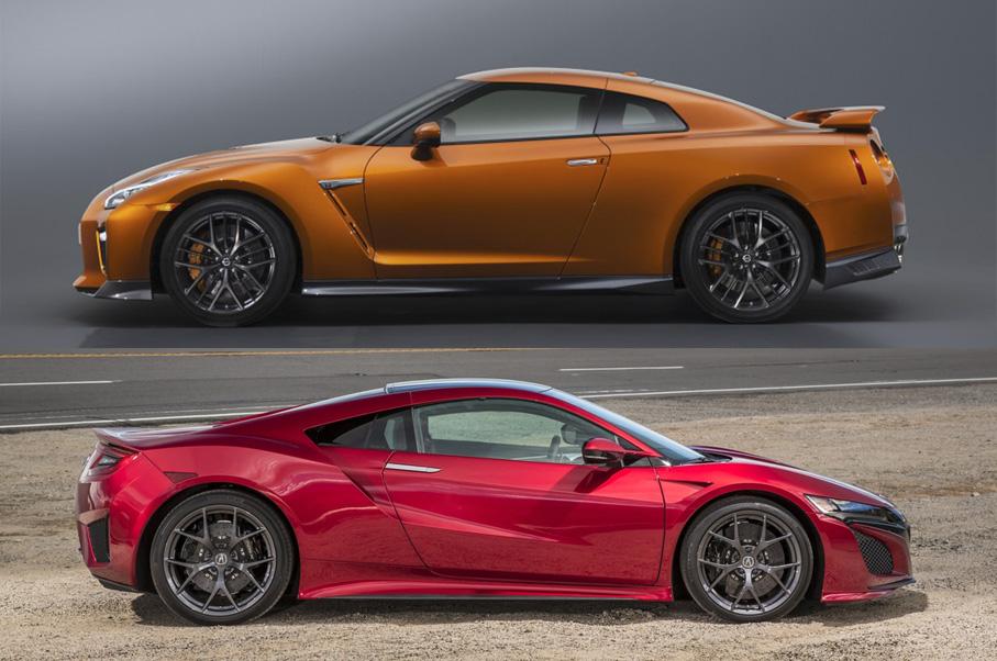 Acura NSX vs Nissan GT-R
