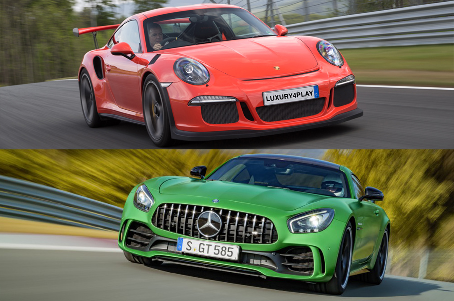 Would You Rather: Mercedes-AMG GT R or Porsche 911 GT3 RS