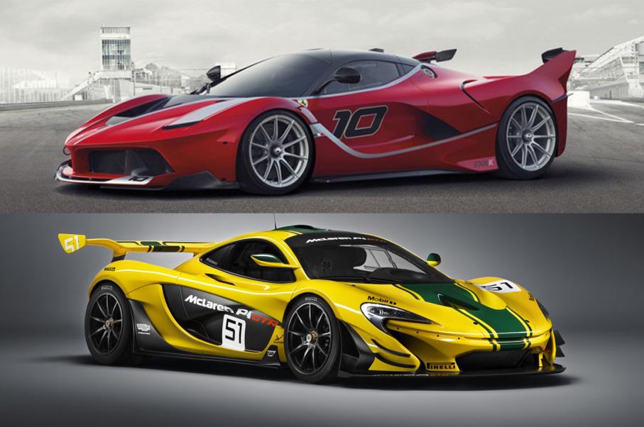 ... Would You Rather: Ferrari FXX K Or McLaren P1 GTR?