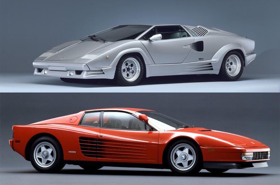 Would You Rather: Ferrari Testarossa or Lamborghini Countach?