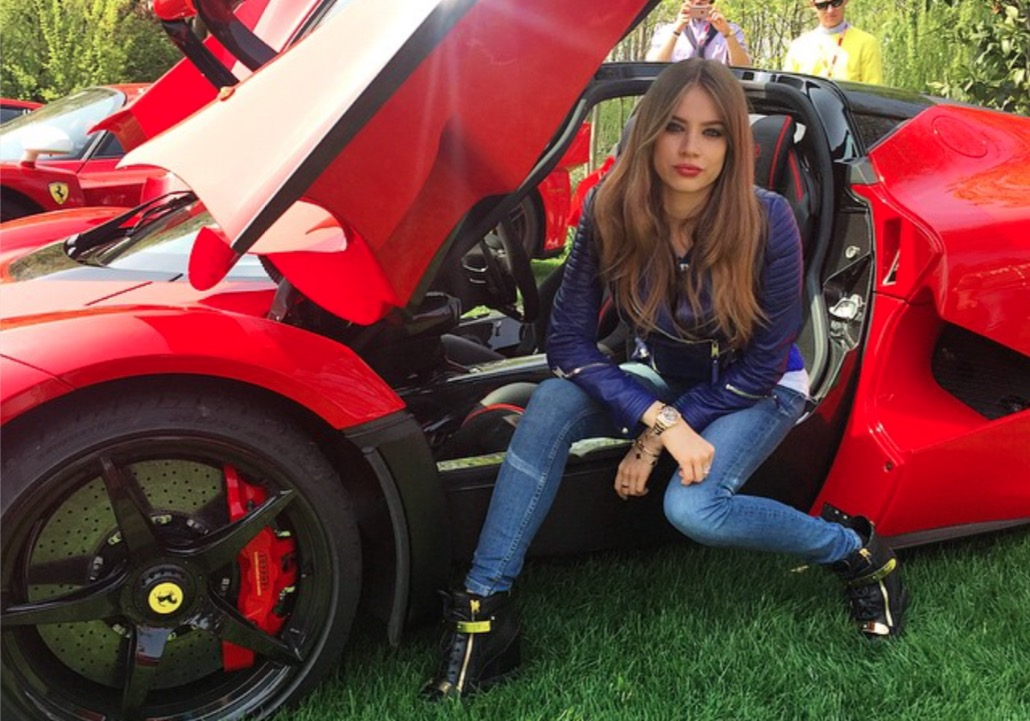 Swiss Model Xenia Tchoumitcheva Loves Posing with Beautiful Cars