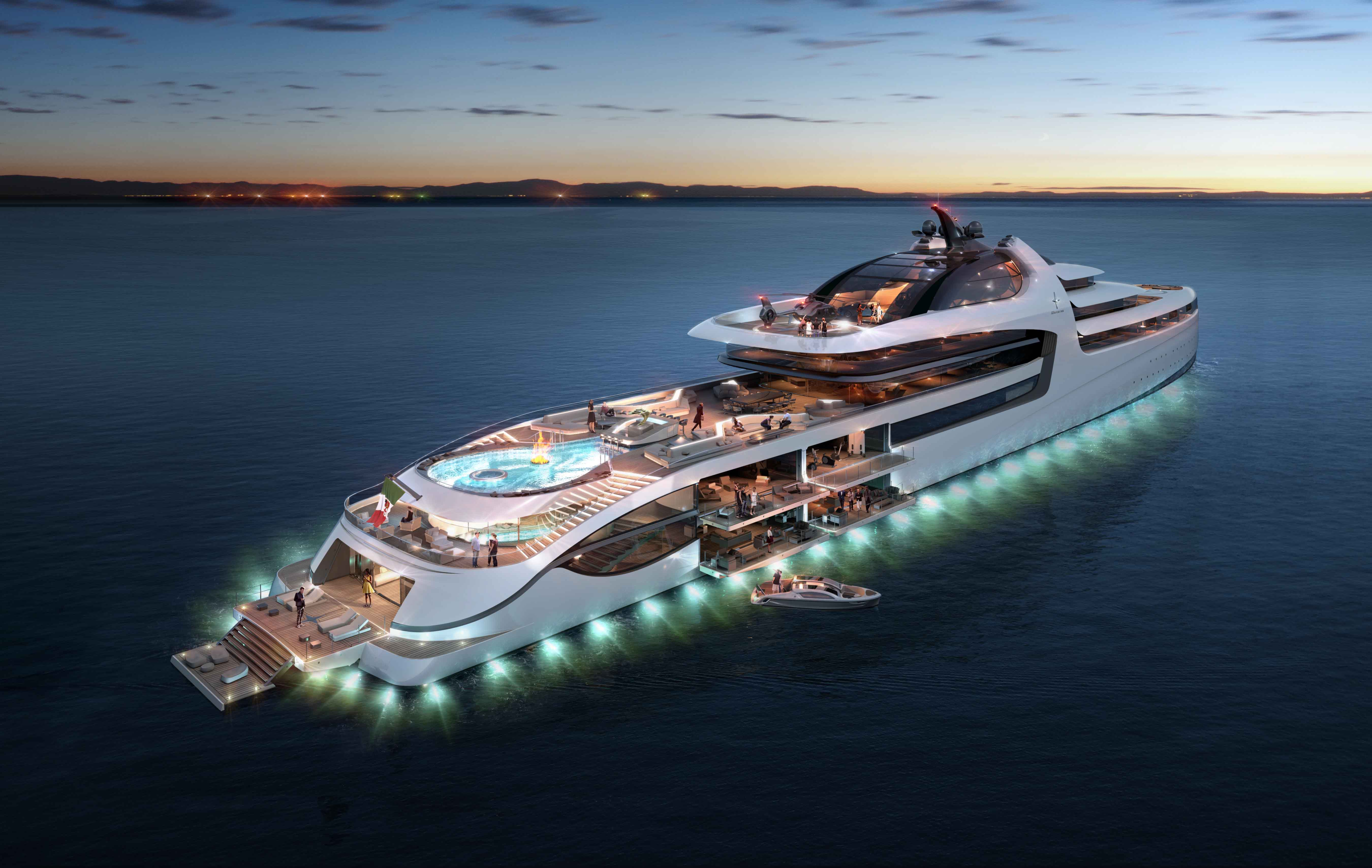 This 476-Foot Mega Yacht is the Definition of Luxury Living—Take a Look Inside