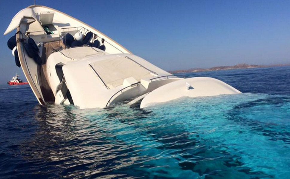 Someone Just Sank This Massive Yacht Off the Coast of Greece
