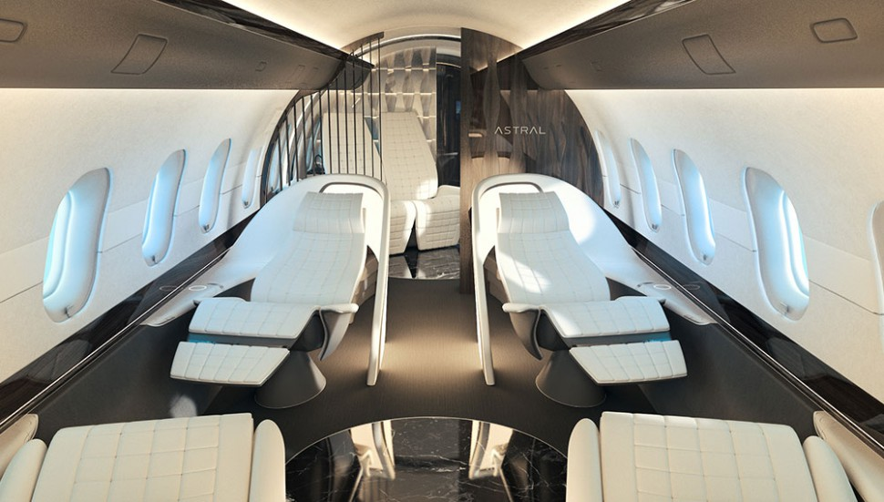 This Luxury Private Jet Interior Is as Comfortable and Stylish as It Gets