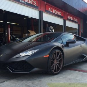 Huracan on Vossen precision wheels wrapped by MetroWrapz